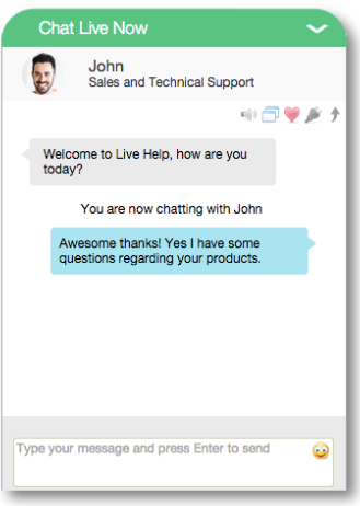 get live chat feedback