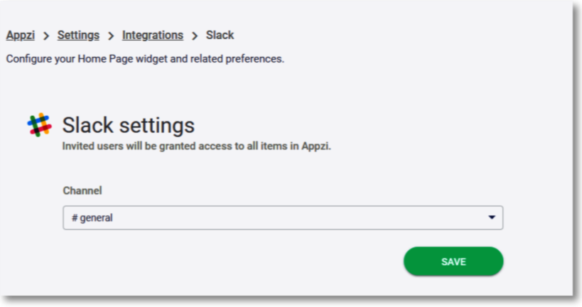 connect appzi to slack