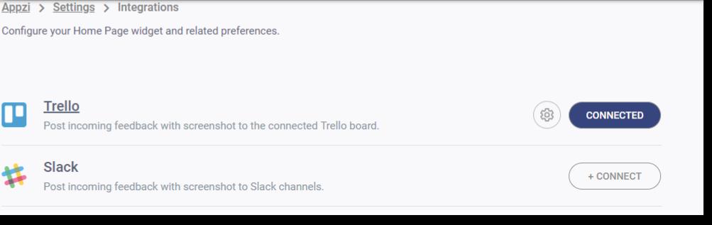 integrate appzi with slack and trello