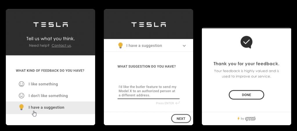 feedback widget